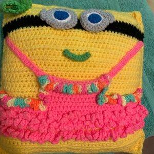 Handmade minion girl pillow